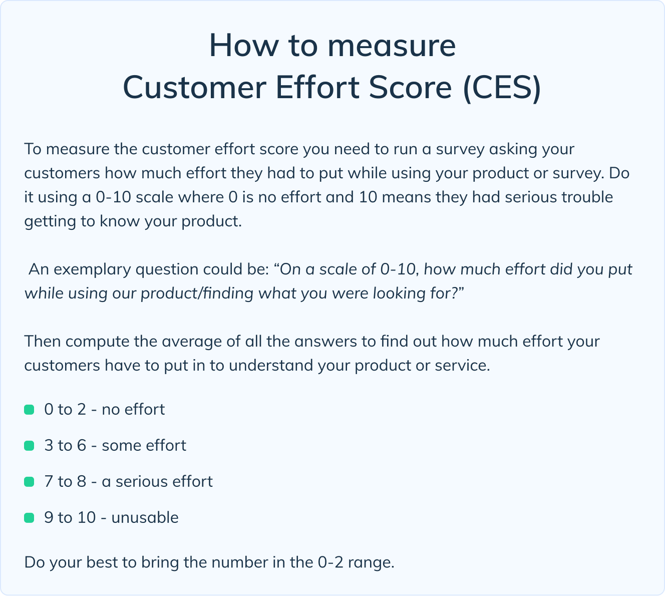 How to measure CES