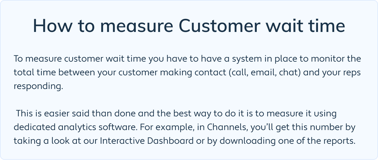 How to measure Customer wait time